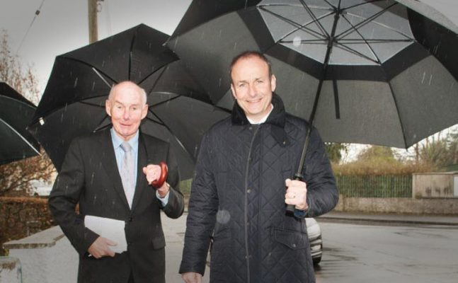 Jerry Lodge with Micheál Martin