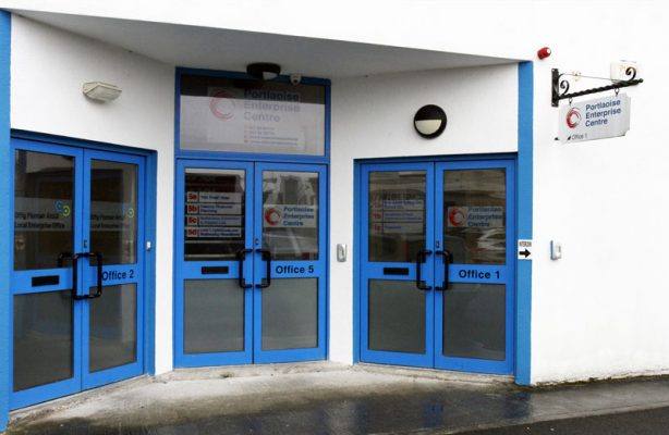 Portlaoise Enterprise Centre Front doors