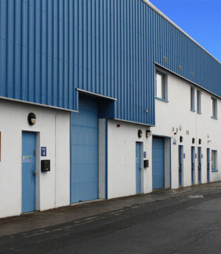 Portlaoise Enterprise Centre industrial units outside