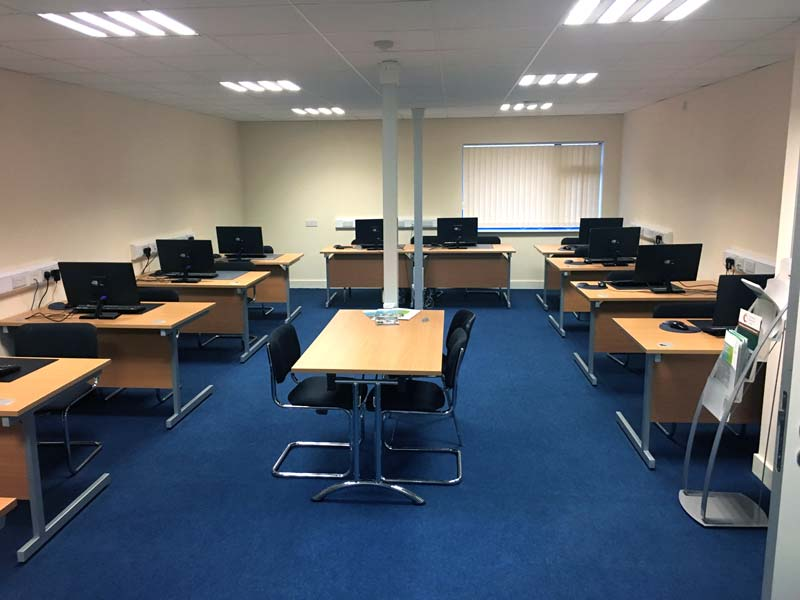 Portlaoise Enterprise Centre training facilitys training room 1