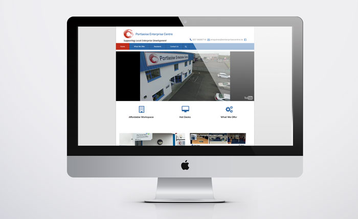 Portlaoise Enterprise Centre website before